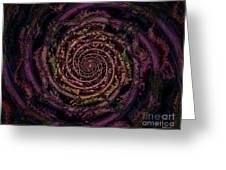 A Downward Spiral Greeting Card