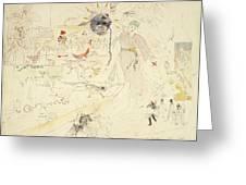 A Dream In Absinthe, 1890 Greeting Card