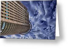 A Drifting Skyscraper Greeting Card