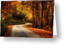 A Drive In The Mountains Of Western North Carolina Greeting Card