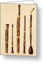 A Dulcian, An Oboe, A Bassoon Greeting Card