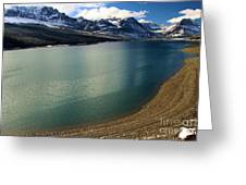 A Dusting On Glacier Greeting Card