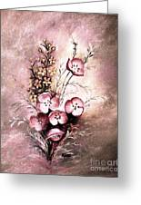 A Dusty Rose Bouquet Greeting Card