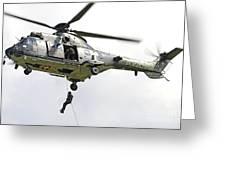 A Eurocopter As332 Super Puma Greeting Card