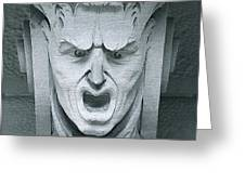 A Face In A Facade Greeting Card