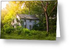 A Fading Memory One Summer Morning - Abandoned House In The Woods Greeting Card