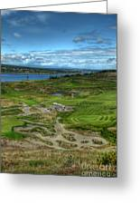 A Fairway To Heaven - Chambers Bay Golf Course Greeting Card