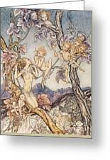 A Fairy Song From A Midsummer Nights Dream Greeting Card