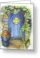 A Fairys Door Greeting Card