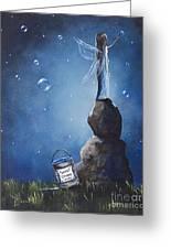 A Fairy's Nighttime Gift By Shawna Erback Greeting Card by Shawna Erback