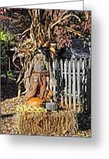 A Fall Scarecrow Display Greeting Card