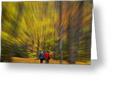 A Fall Stroll Taughannock Greeting Card