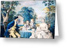 A Family Group In A Garden Greeting Card