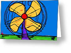 A Fan Of Color Greeting Card