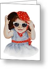 A Fashion Girl  Greeting Card