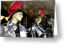 A Feather In Her Hat Greeting Card