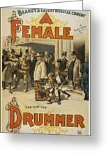 A Female Drummer Greeting Card