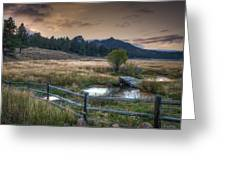 A Fence In A Field Greeting Card