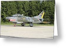 A Fiat G-91 Fighter Plane Of The German Greeting Card