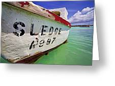 A Fishing Boat Named Sledge II Greeting Card by David Letts