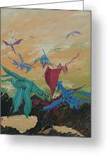 A Flight Of Dragons Greeting Card