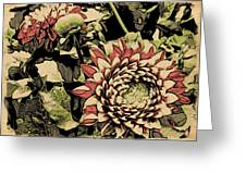 A Floral View Greeting Card