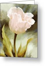 One Beautiful Flower Impressionism Greeting Card