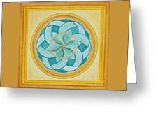 A Flower Released Greeting Card