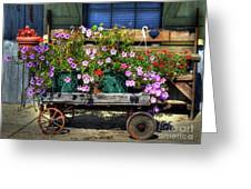 A Flower Wagon Greeting Card