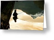 A Fly Fisherman Standing In A River Greeting Card