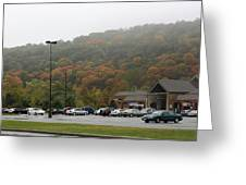 A Foggy Autumn Day At The United States Military Academy Greeting Card