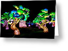 A Forest Of Lanterns Greeting Card