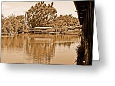 A Forgotten Delta Marina Greeting Card