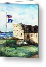 A Fort In Maine Greeting Card