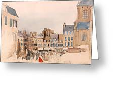 A French Market Place Greeting Card