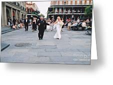 A French Quarter Wedding Greeting Card