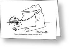 A Frog Answers The Telephone Greeting Card