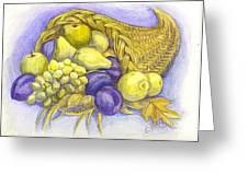 A Fruitful Horn Of Plenty Greeting Card