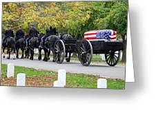 A Funeral In Arlington Greeting Card