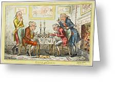 A Game Of Chess -  Two Wigged Gentlemen Greeting Card