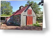 A Garden Barn Greeting Card