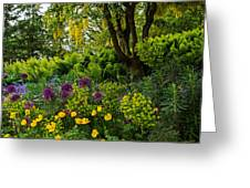 A Garden Of Color Greeting Card