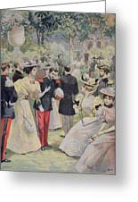 A Garden Party At The Elysee Greeting Card