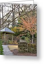 A Garden Walk In February Greeting Card