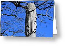 A General's Draped Monument Greeting Card