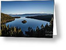 A Generic Photo Of Emerald Bay Greeting Card
