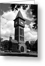 A German Bell Tower Bw Greeting Card by Mel Steinhauer