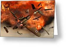 A German Heinkel Bomber Plane Blowing Greeting Card