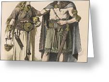 A German Man And Woman Of The  Bronze Greeting Card
