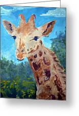 A Giraffe For Ori Greeting Card